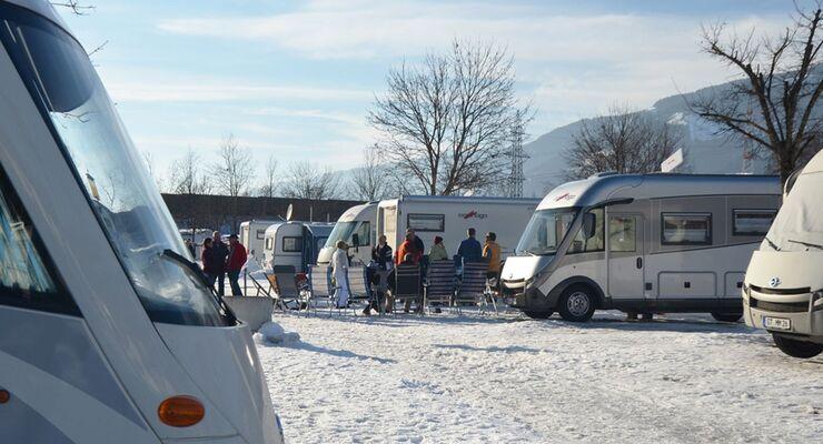 56 Carthago Reisemobile, 114 Gäste, gute Stimmung – das sind die Eckdaten des Wintertreffens auf Woferlgut.