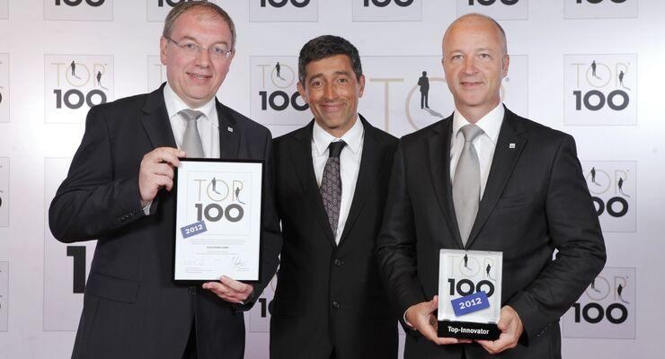 """Alko hat zum zweiten Mal das Gütesiegel """"Top 100"""" bekommen und zählt somit zu den innovativsten Mittelständlern Deutschlands."""