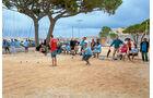 Boule-Spieler in Antibes