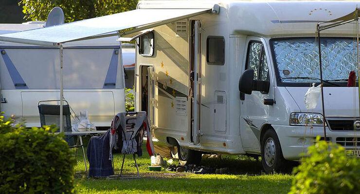 Campen auf dem Schluga Camping.