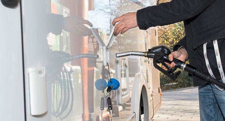 Das Horrorszenario für alle Wohnmobilfahrer: Diesel im Frischwasssertank