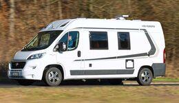 Der Carabus 601 MQ von Weinsberg nutzt den Platz meist sehr gut aus.