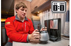 Die PerfectCoffe MC 08 kocht acht Tassen Kaffee.