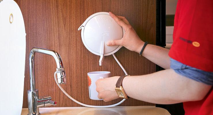 Die Wasseraufbereitung erfordert einen nur minimalen Installationsaufwand.