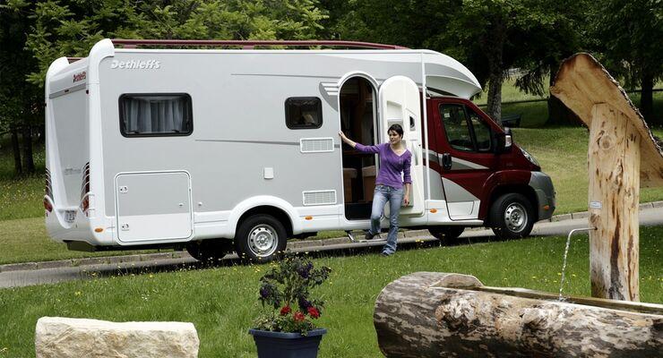 Die Zahl der Übernachtungen auf deutschen Campingplätzen geht leicht zurück
