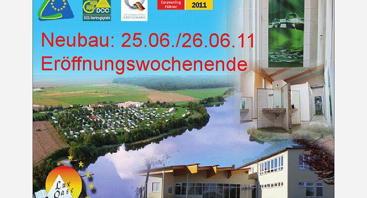 Eröffnungsparty und große Präsentation des neuen Sanitär- und Wellnessgebäudes Der LuxOase am 25.- 26.06.2011