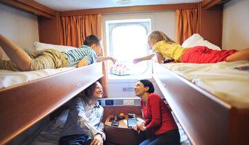 Fähren in Nordeuropa Kabine für Familien