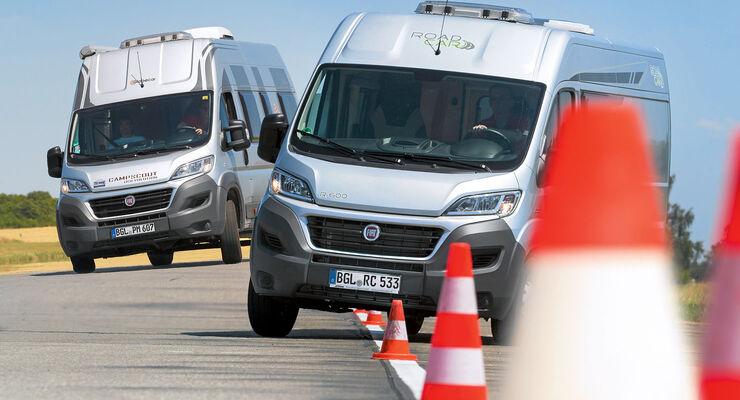Fiat Ducato auf Testparcours