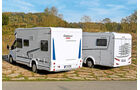 Heckpartien von Chausson Flash 617 und Dethleffs Advantage 6611