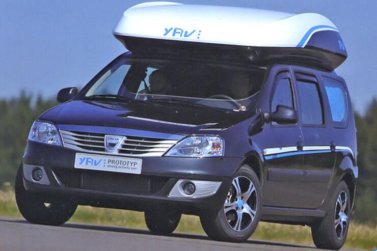 Hymer YAV Young Activity Van Dacia Logan Wohnmobil Reisemobil Caravan Salon 2009