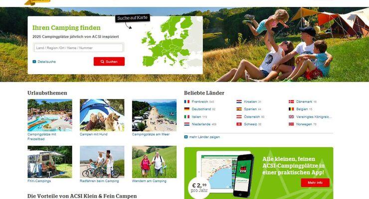 Kleine Campingplätze - Suchmaschine von ACSI