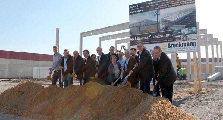 LMC Caravan Spatenstich Neubau in Sassenberg