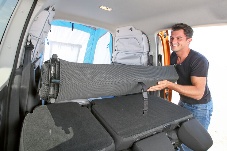 die vierte generation des vw caddy campers im test promobil. Black Bedroom Furniture Sets. Home Design Ideas