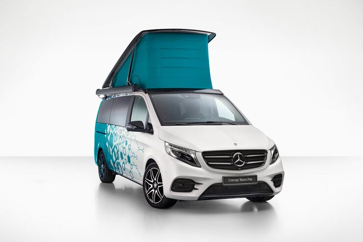 mercedes concept marco polo 2019 connected campervan. Black Bedroom Furniture Sets. Home Design Ideas