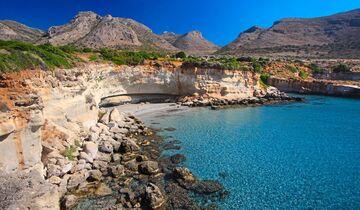 Naturpool und Fossilien: bei den versteinerten Palmen von Agio Marina