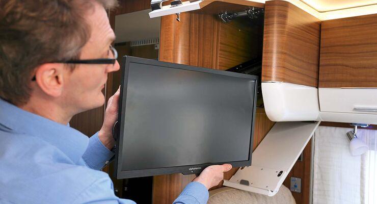 ratgeber zum einbau einer tv halterung im wohnmobil promobil. Black Bedroom Furniture Sets. Home Design Ideas