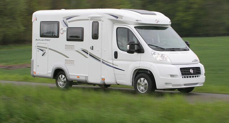 Reisemobile und Pkw-Caravan-Gespanne gehören zu den sichersten Fahrzeugen im deutschen Straßenverkehr