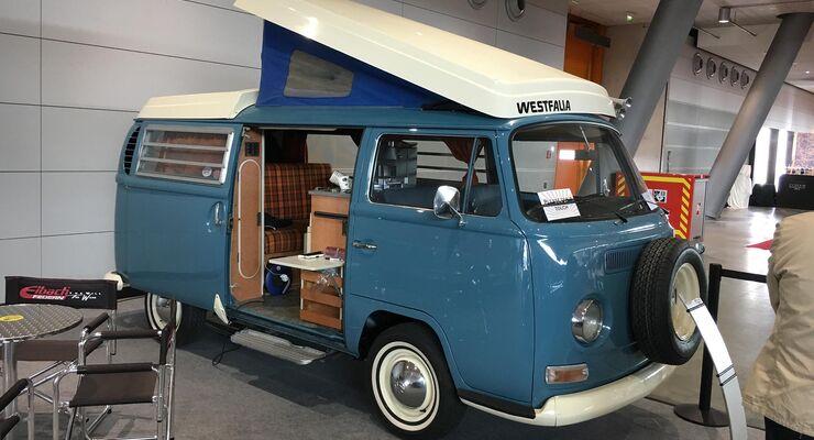 camping oldtimer auf der retro classics 2018 promobil. Black Bedroom Furniture Sets. Home Design Ideas