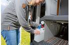 Statt eines Wassertanks zwei 12-Liter-Kanister beim Trio Style