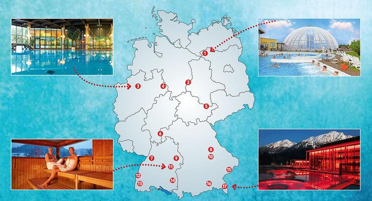 17 thermen in deutschland mit wohnmobil stellpl tzen promobil. Black Bedroom Furniture Sets. Home Design Ideas