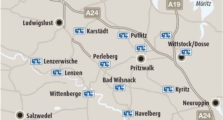 Stellplatz-Fokus Brandenburg Plan Stellplätze