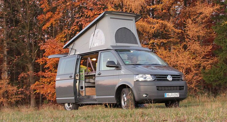 """Terracamper zeigt auf der Freizeitmesse """"CMT"""" in Stuttgart vom 12. bis 20. Januar 2013 einen flexiblen Ausbau für den VW Bus T5: den Tecamp."""