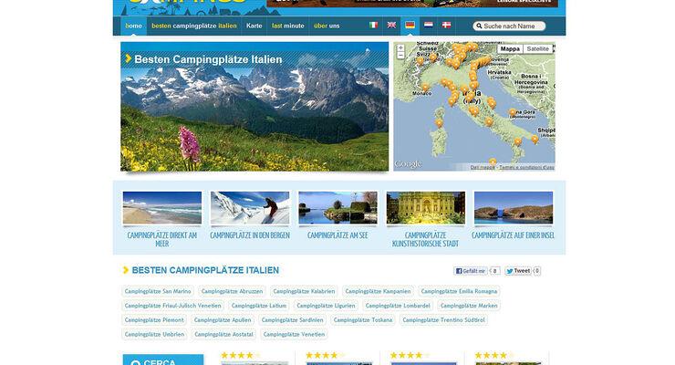Top Camping will ein unabhängiger Führer und Buchungssystem für Campingplätze in Italien und ganz Europa sein.