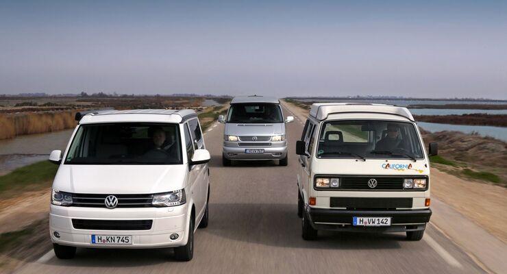 Volkswagen feiert auf der Techno Classica (10. - 14.4.2013) in Essen den 25. Geburtstag des California.