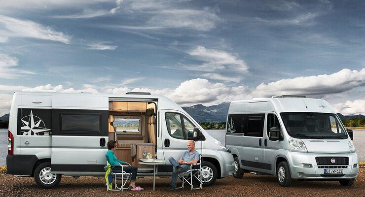 Westfalia zeigt auf dem Caravan Salon auch das neue Amundsen-Modell – auf Fiat Ducato-Basis mit zwei Radständen.