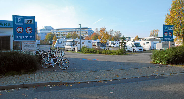 Zufahrt Wellmobilpark Bad Schönborn