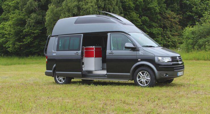 Zum Caravan Salon 2013 zeigt Terra Camper den Terock, jetzt mit langem Radstand (3.400 mm, Gesamtlänge 5.292 mm).